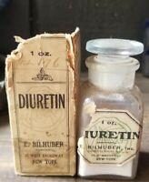 Apothecary E. Bilhuber Inc. Diuretin Tablets Original Box Stopper Labels