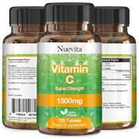 Vitamin C x 360 Vegan Tablets 1500mg Super Strength Vitamin C Higher Than 1000mg