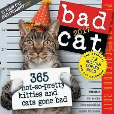 BAD CAT Page-A-Day Desk Calendar 2017 BESTSELLER FUNNY GREAT GIFT MEOW