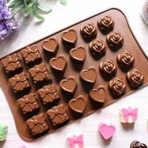 Love Gift Box Heart Chocolate Mould Fondant Sugarcraft Cake Rose Candy Mould DIY