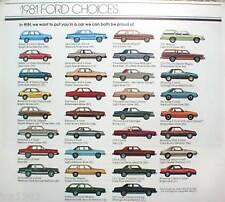 1981 FORD Brochure : MUSTANG,THUNDERBIRD,FAIRMONT,LTD,ESCORT,GRANADA,