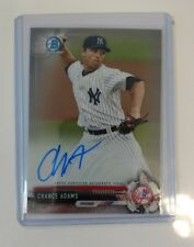2017 Bowman Chrome Chance Adams Auto CPA-CAD Prospect Yankees