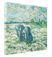 Van Gogh Two Peasant Women Digging Field Fine Art Print on Canvas Gallery Wrap