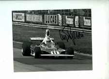 Clay Regazzoni Ferrari 312 T British Grand Prix 1975 Signed Press Photograph