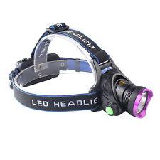 10000LM CREE XML XM-L T6 LED 3-Mode 18650 Tactical  Headlamp Headlight Purple