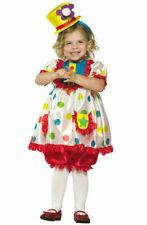 Brand New Circus Clown Girl Toddler Halloween Costume
