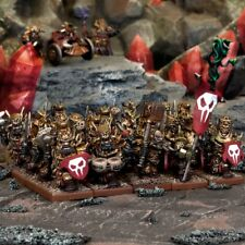 Kings of War 10 Immortal guard troop unboxed - NO COMMAND - Mantic Abyssal dwarf