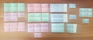 Set of 57 1936 Army & Navy 1-5 Cent US Postage Stamp Collection