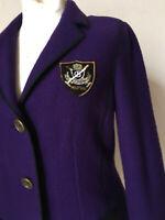 Wollwalk Jacke Blazer von Basler Wappen violett Wolle 42 44
