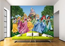 Grand mur murale photo papier peint princesses castle meadow filles chambre décoration 360x254
