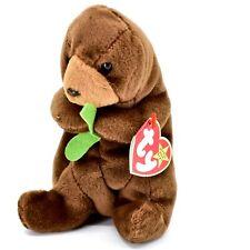 1996 TY Beanie Baby Original Seaweed the Otter Plush Beanbag Toy Doll