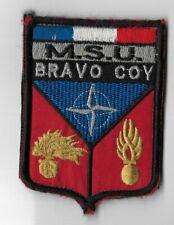 France MSU Bravo Coy Bosnie  / écusson patch Militaria