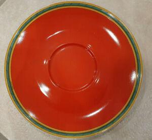 Toucans Hermes Untertasse rot für Frühstückstasse 500ml Jumbotasse Café au Lait
