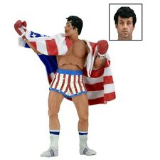 "NECA Rocky 40Th Anniversary 7"" Figure - Series 2 Rocky (American Flag Trunk"
