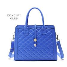 Brand New Woman Lady Concept Club Blue Quilt crossbody tote Handbag Shoulder Bag