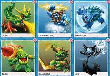 Skylanders Spyros Characters Dino Rang Warnado Zook Camo Lightning Rod Hex Bundl