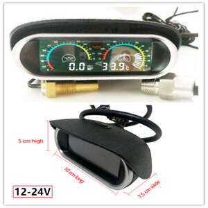 Modified 12V Car/Truck Water Temperature Oil Pressure Gauge LCD Digital Display