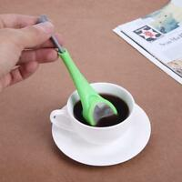 Silicone Coffee Strainer Tea Maker Tea Leaf Filter Swirl Stir Press Infuser