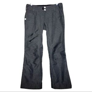 Sims Snowboarding Womens Size S Ski Snow Pants In Charcoal Gray With Gaiters