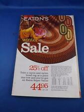 CATALOG EATONS VINTAGE DEPARTMENT STORE CLOTHES GIFTS 1969-70 WINTER SALE