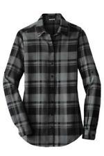 Ladies Womens Plaid Flannel Shirt Tunic XS S M L XL XXL 3XL 4XL Port Authority