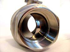 """Stainless Steel 2"""" ball valve, full port, NPT"""