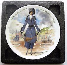 Edith 1915 D'Arceau Limoges Women of the Century Collector Plate Ganeau Coa
