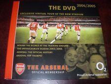 OFFICIAL ARSENAL 2004/05 DVD~DENNIS BERGKAMP~THIERRY HENRY GREATEST GOALS