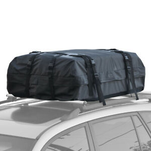 Motor Trend Waterproof Rooftop Rack Cargo Carrier for Travel Luggage Storage
