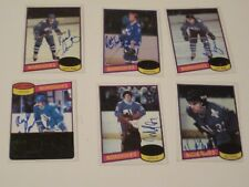 LOT OF 6 AUTOGRAPHED 1980 TOPPS QUEBEC NORDIQUES CARDS