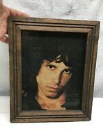 Vintage Jim Morrison Wood  Framed Picture 12in x10in Frame