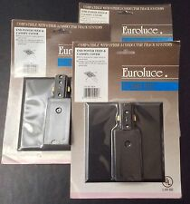 3 NEW Euroluce end power feed and canopy cover black 3 conduct0r track systems