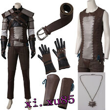 HOT The Witcher 3: Wild Hunt Geralt of Rivia Cosplay Costume Customize Full Suit