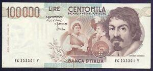 100000 lire Caravaggio I° tipo Lettera C – SPL++