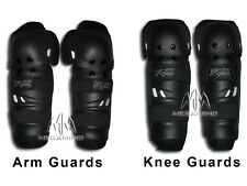 Knee Arm Guard for Bikers Bike - Riding Gear in Black Color