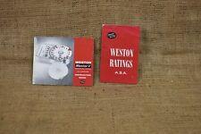 Exposímetro Weston y Invercone libro de instrucciones, Weston Asa Calificaciones prospecto