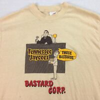 vtg 70s 80s USA Made Paper Thin Distressed Bantam T-Shirt sz M Punk Grunge Law