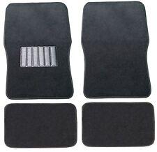Premium Carpet Car Floor Mats Fit VW Volkswagen Jetta Solid Black Front Rear Set
