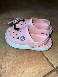 NWT Toddler 8/9 Crocs Crocband II Slide Shoes Backstrap