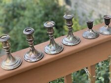 Mixed Lot of 6 VINTAGE SOLID BRASS CANDLE HOLDERS CANDLESTICKS