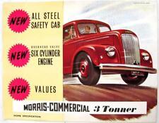 MORRIS 3 Tonner Original Commercial Sales Brochure Mar 1953 #23/24 (76794) 3/53