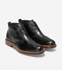 Cole Haan Tyler Grand Chukka In Black-Caviar Leather Size 9.5 C25100