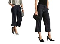 Women's Culottes Trousers Tailored  Cropped Leg 10 S 12 M 14 L16 XL 18 XXL