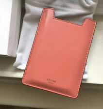 Celine Leather iPhone Case Mobile Case Color: Flamingo BNIB Phoebe Philo
