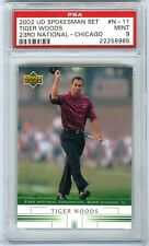 TIGER WOODS~RARE 2002 UPPER DECK NATIONAL CONVENTION PROMO PSA-9 MINT CARD #N-11