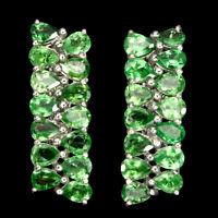 Unheated Pear Green Tsavorite Garnet 4x3mm Natural 925 Sterling Silver Earrings
