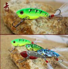 5Pcs 7g Zinc Alloy Hard Fishing Lure 4cm VIB Bait w/Treble Hooks Crankbaits