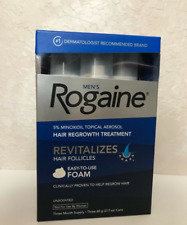 New - Men's Rogaine 5% Minoxidil Hair Regrowth Treatment Foam - 3 Months Supply