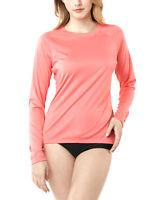 TSLA Women's UPF 50+ Long Sleeve Swim Shirt, UV/Sun Protection Rash Guard