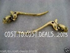 """UNIVERSAL VINTAGE BIKES BRASS BRAKE AND CLUTCH LEVERS 7/8"""" INCH HANDLE BAR"""